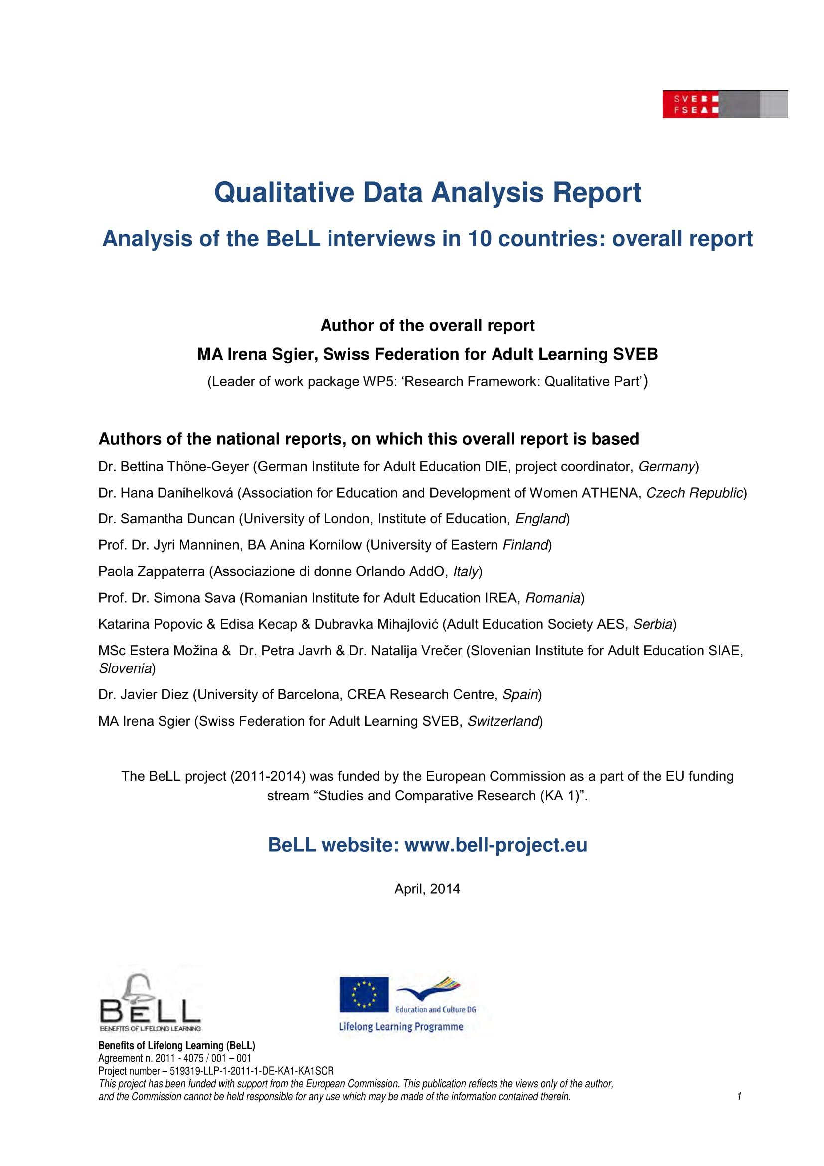 qualitative data analysis report example 001
