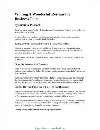 quality restaurant catering business plan example1