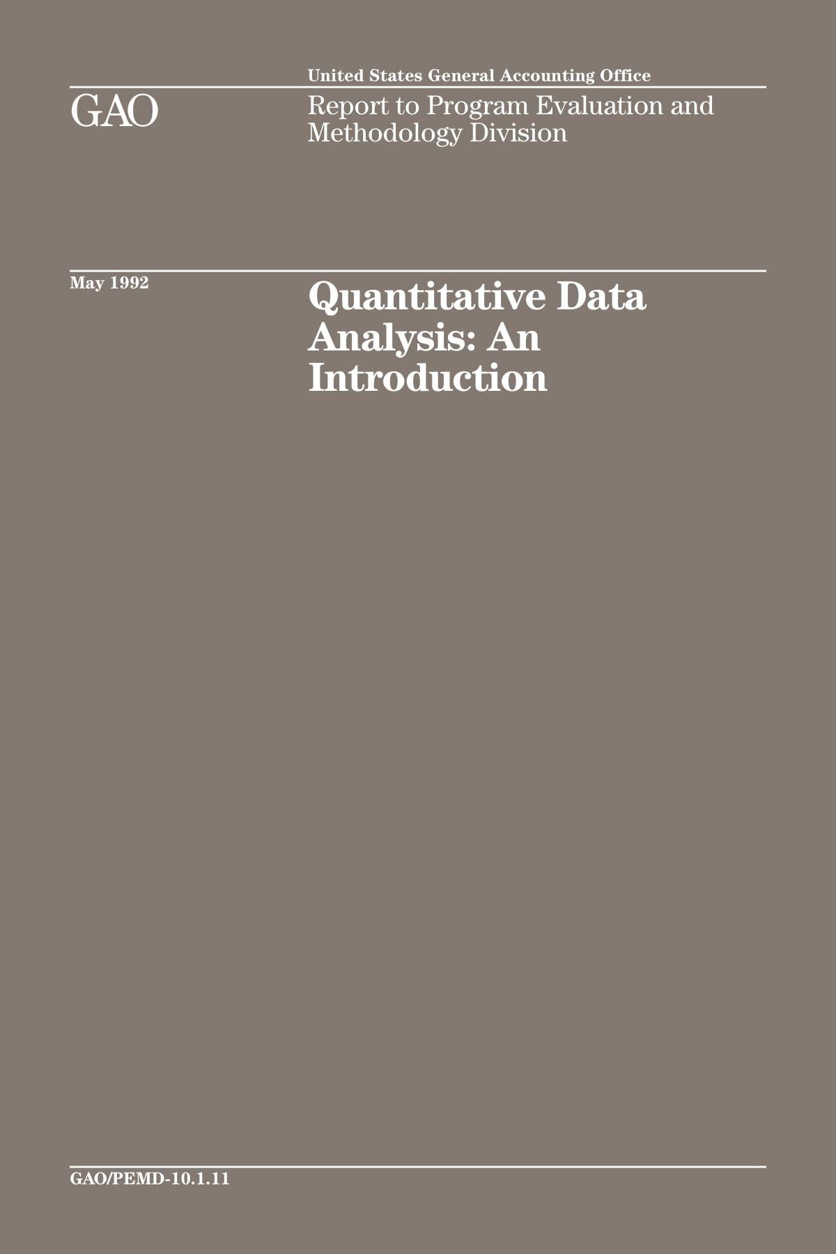 quantitative data analysis introduction report to program evaluation and methodology example 001