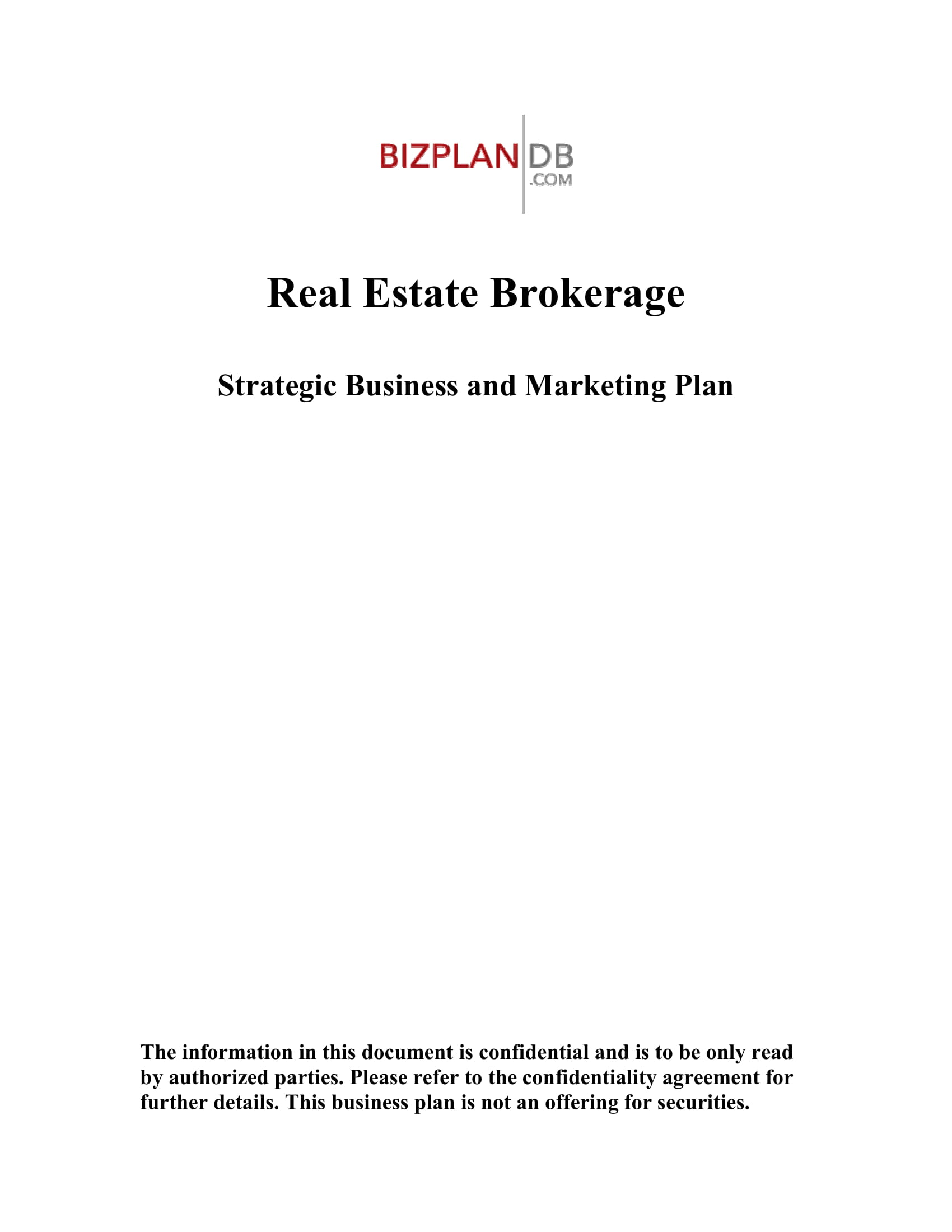 real estate brokerage annual strategic business and marketing plan example 01