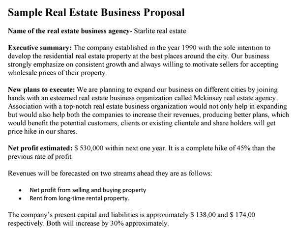 9 Real Estate Investment Proposal Examples Pdf