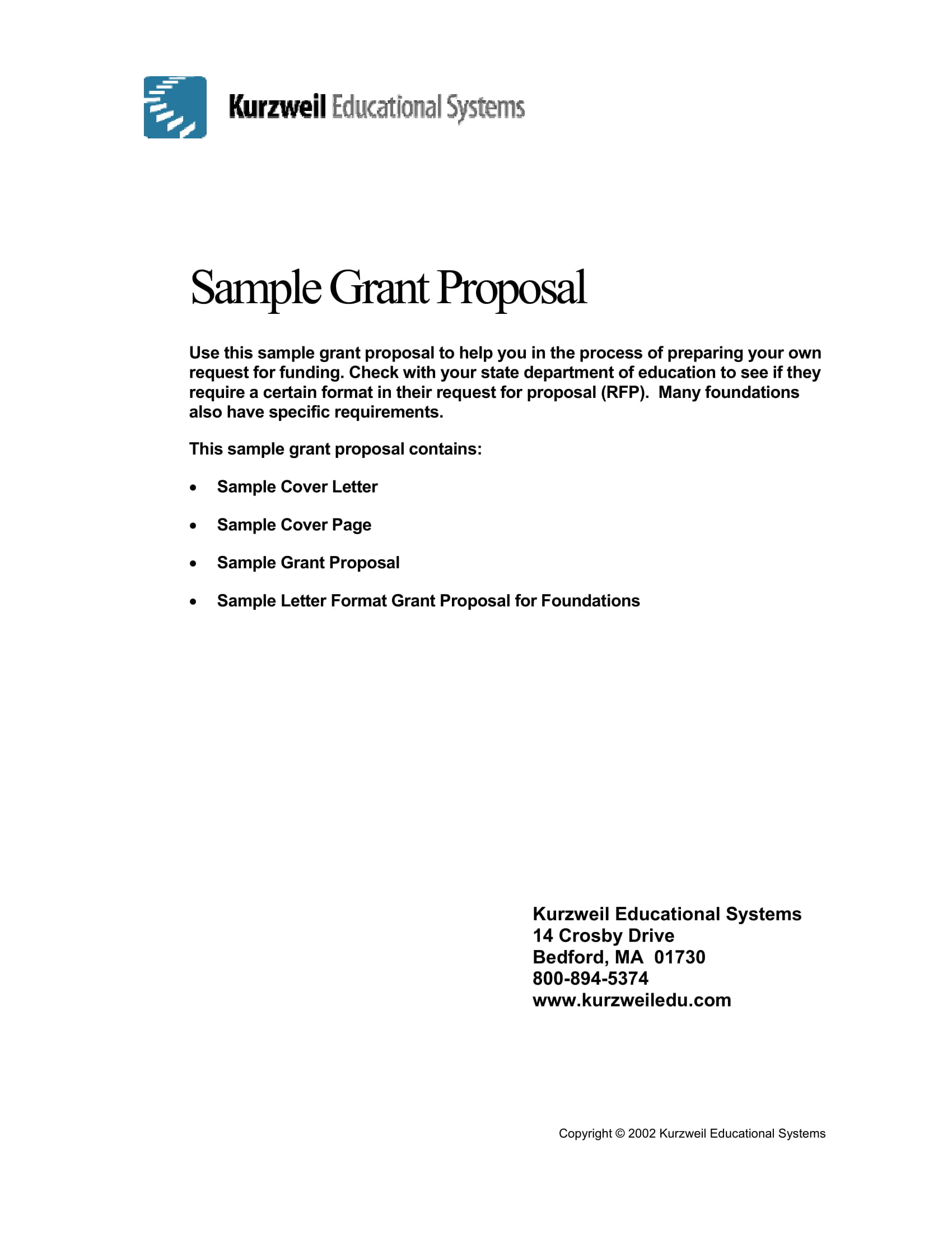resource grant proposal example