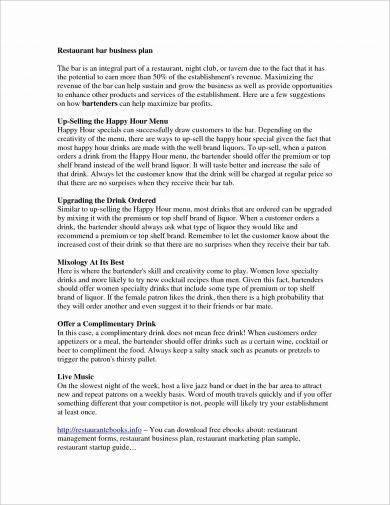 restaurant bar business plan1
