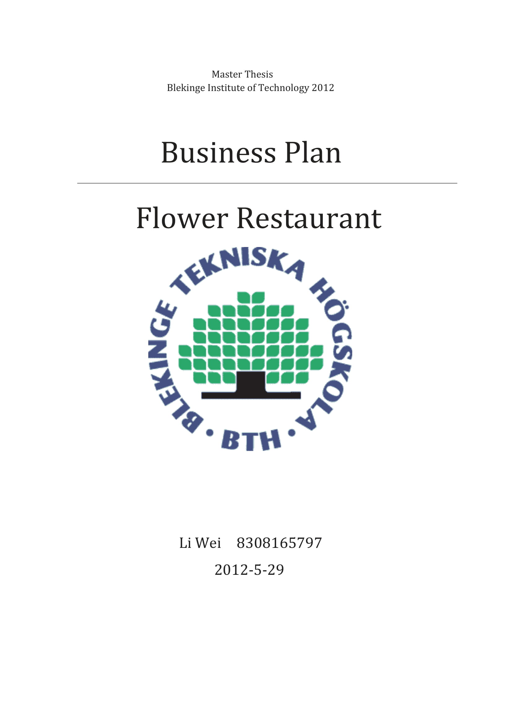 restaurant business plan and swot analysis example 01
