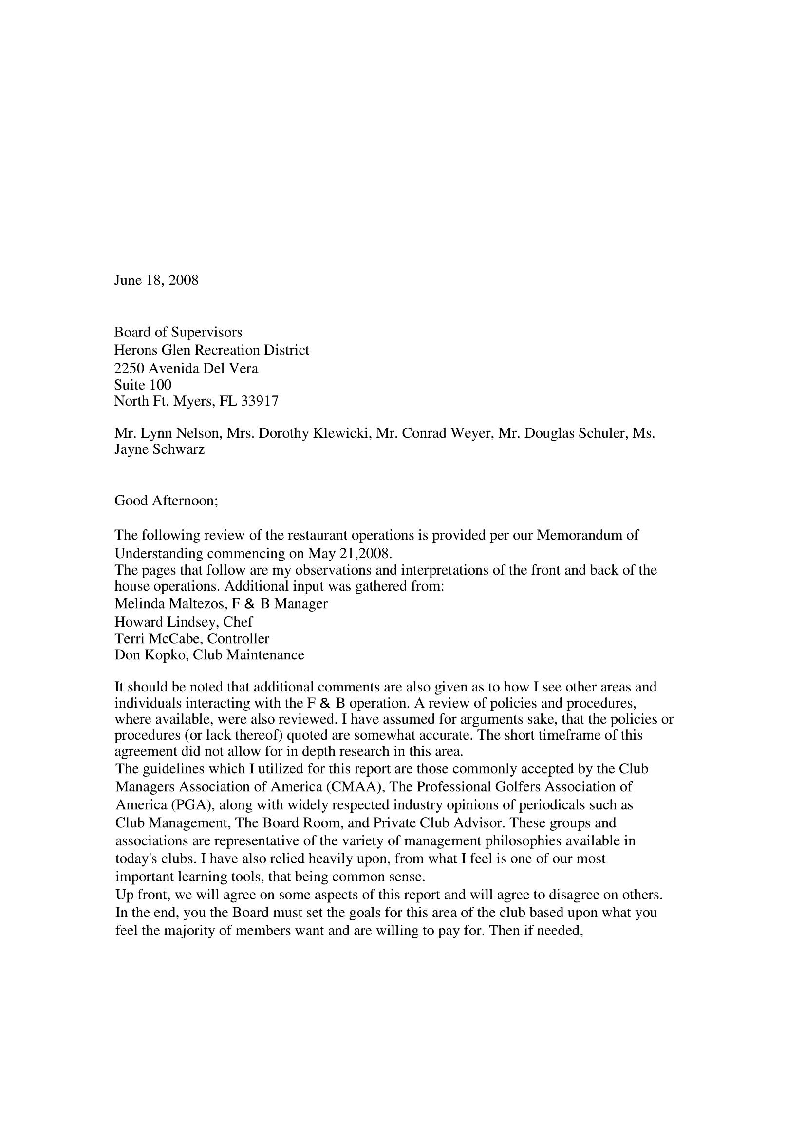restaurant consultant report 07 08