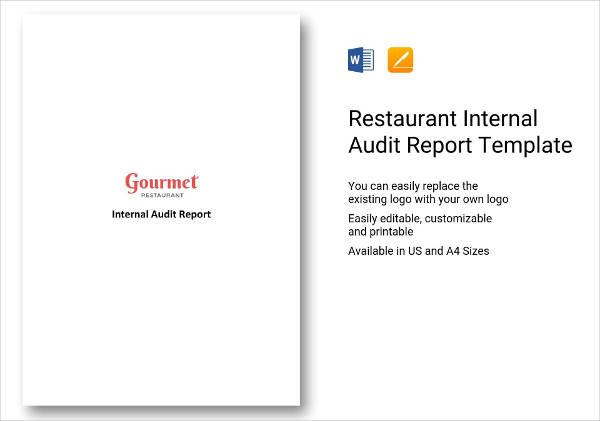 restaurant internal audit report design example