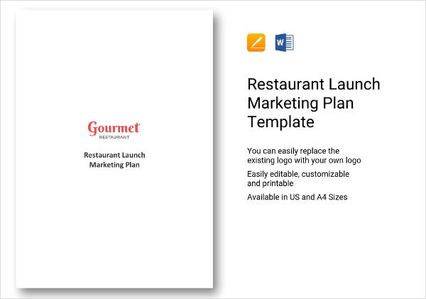 restaurant launch marketing plan example