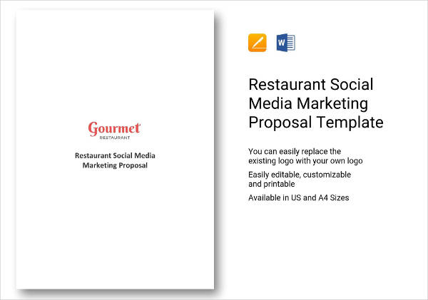 restaurant social media marketing proposal example