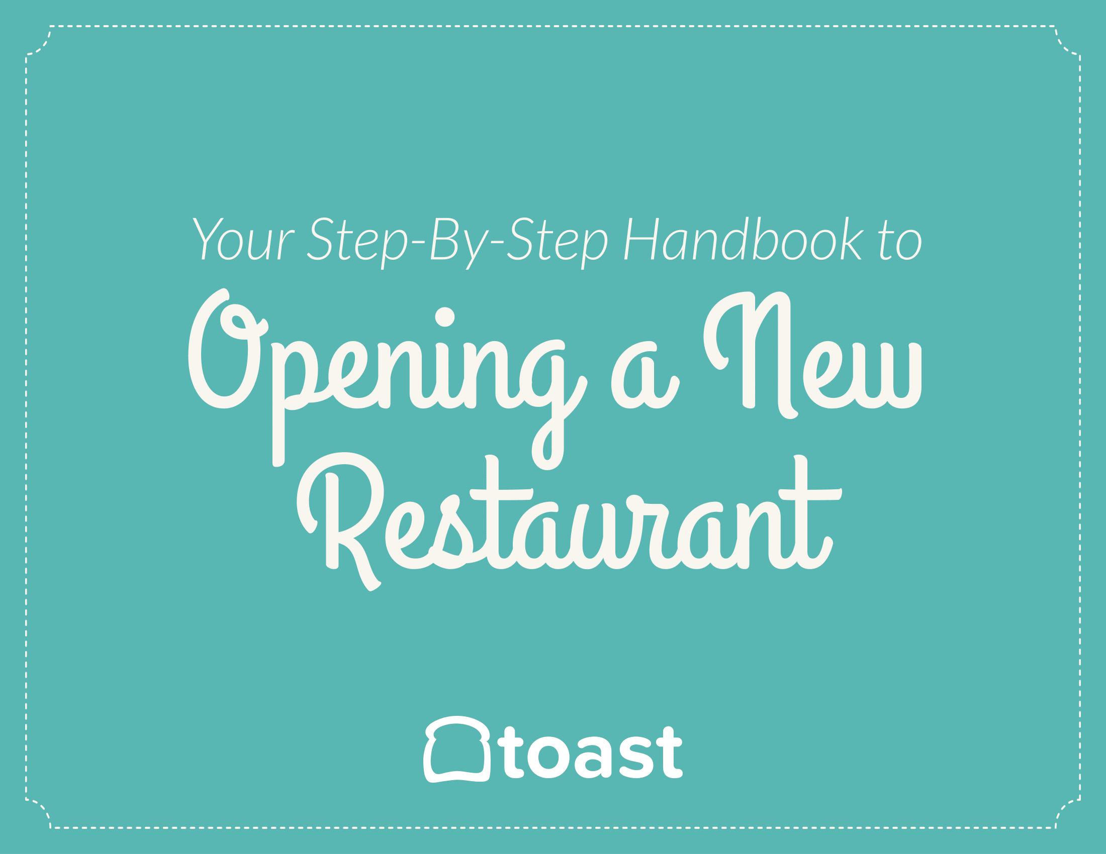 restaurant startup kit handbook