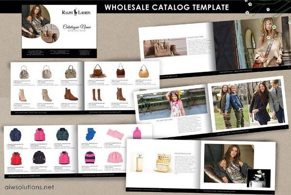 retail minimalist wholesale catalog example