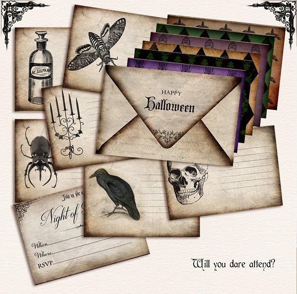 retro themed halloween ticket