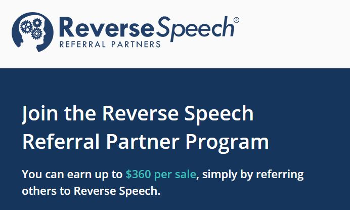 reverse speech referral partner program