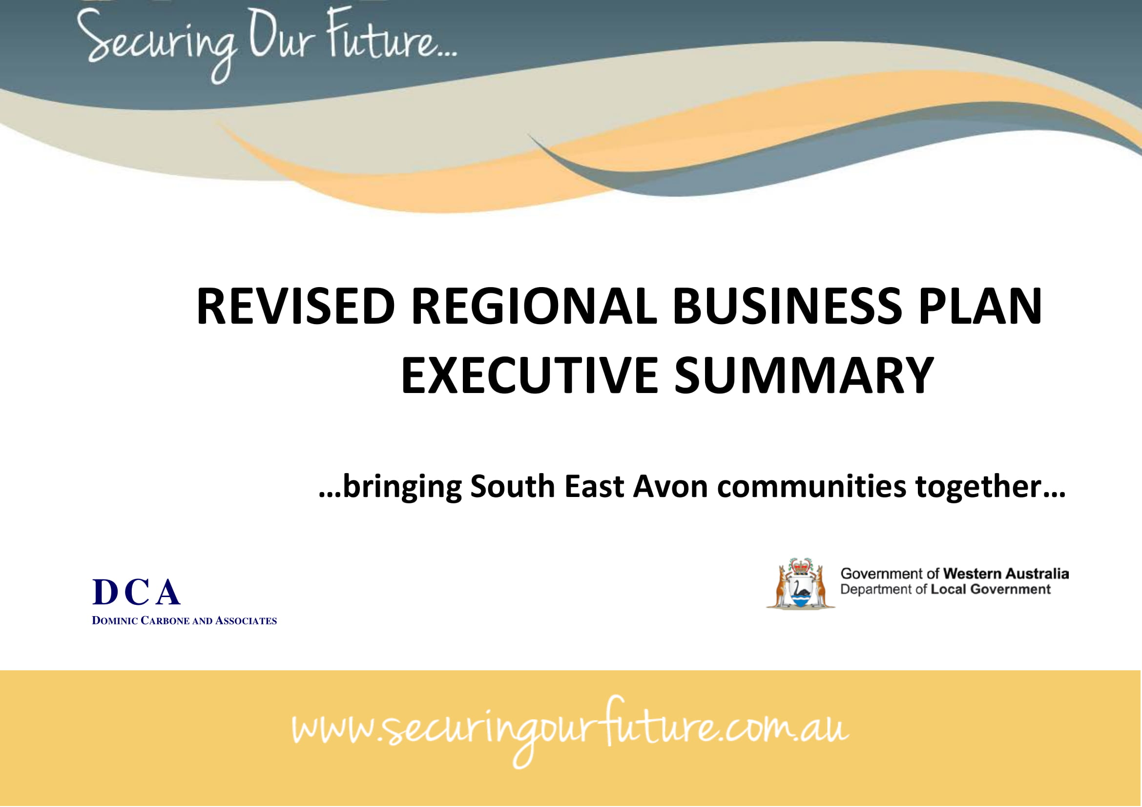 revised regional business plan executive summary example
