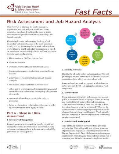 risk assessment and job hazard analysis example