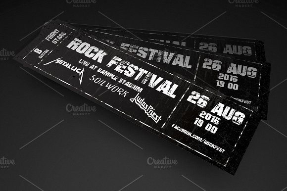 rock festival event ticket example
