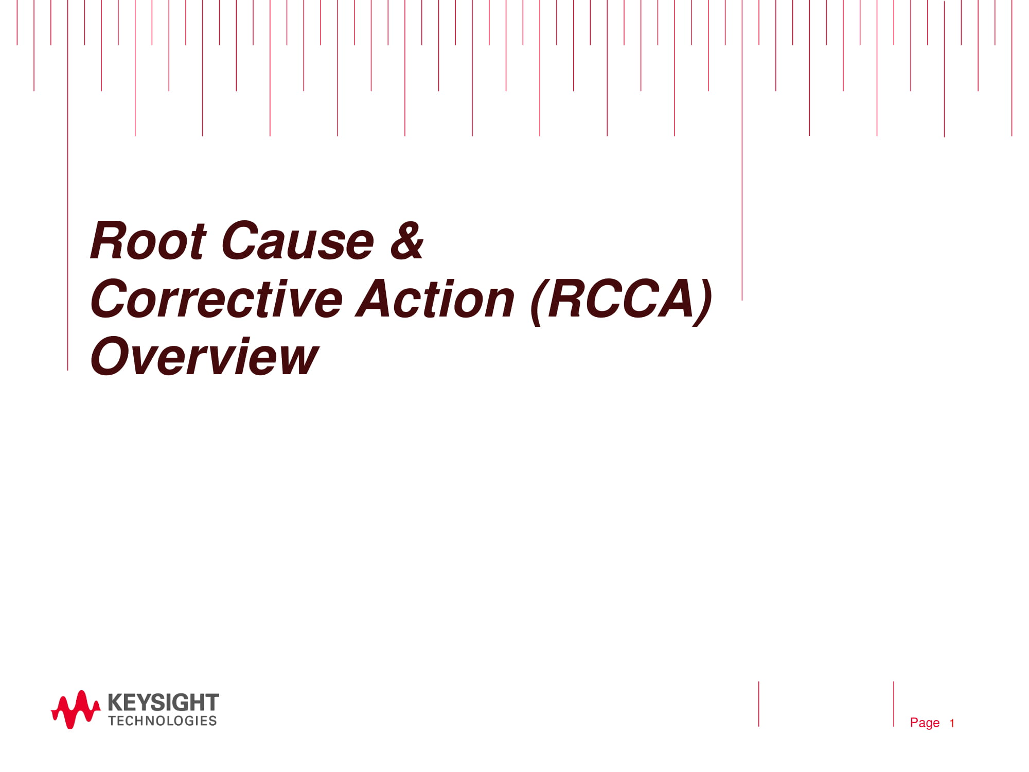 root cause and corrective action overview for reporting purposes example 01