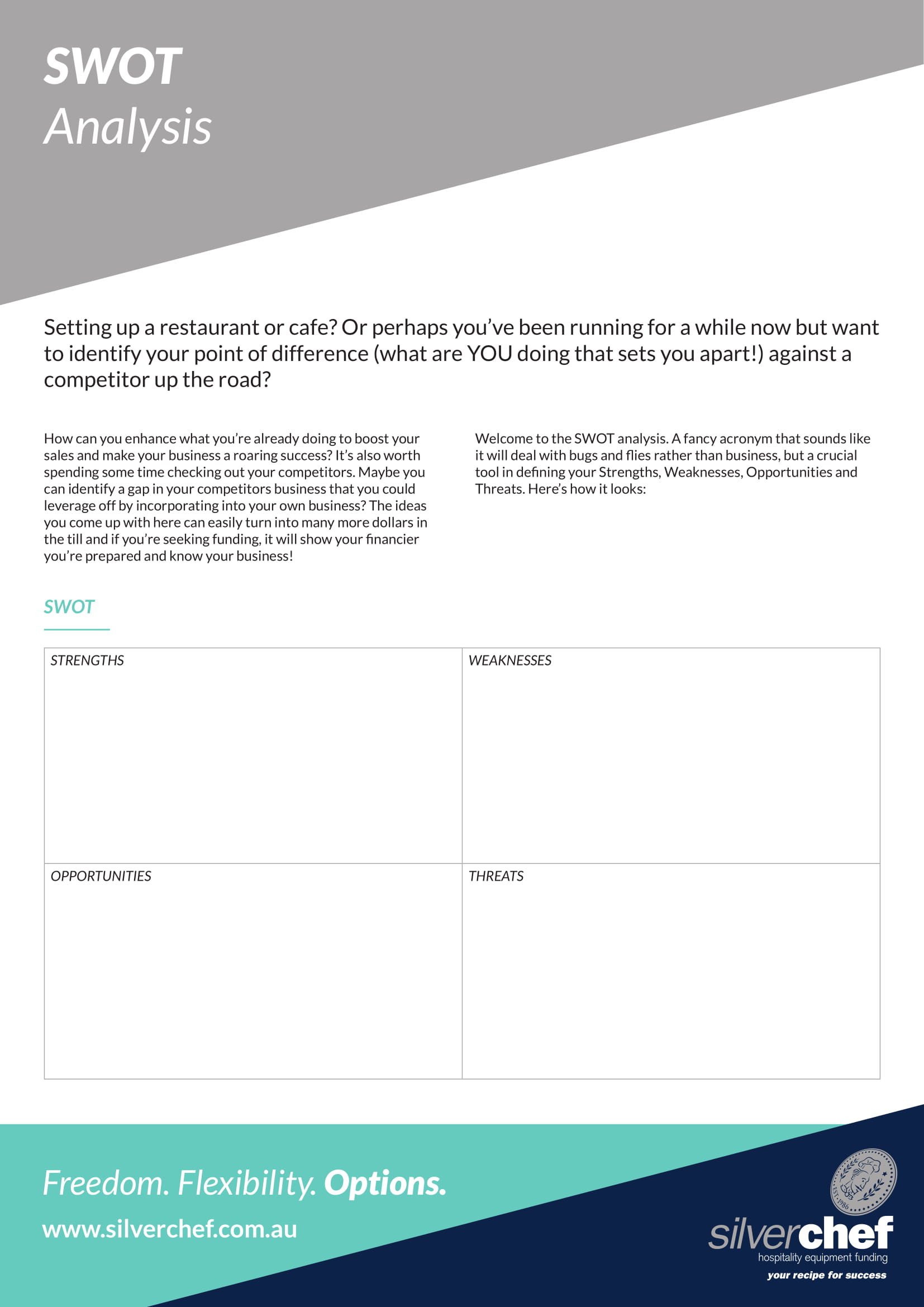 swot analysis for a restaurant or a cafe example 1