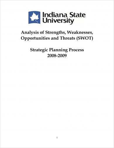 swot analysis of state university for strategic planning process example