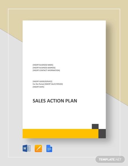 sales action plan