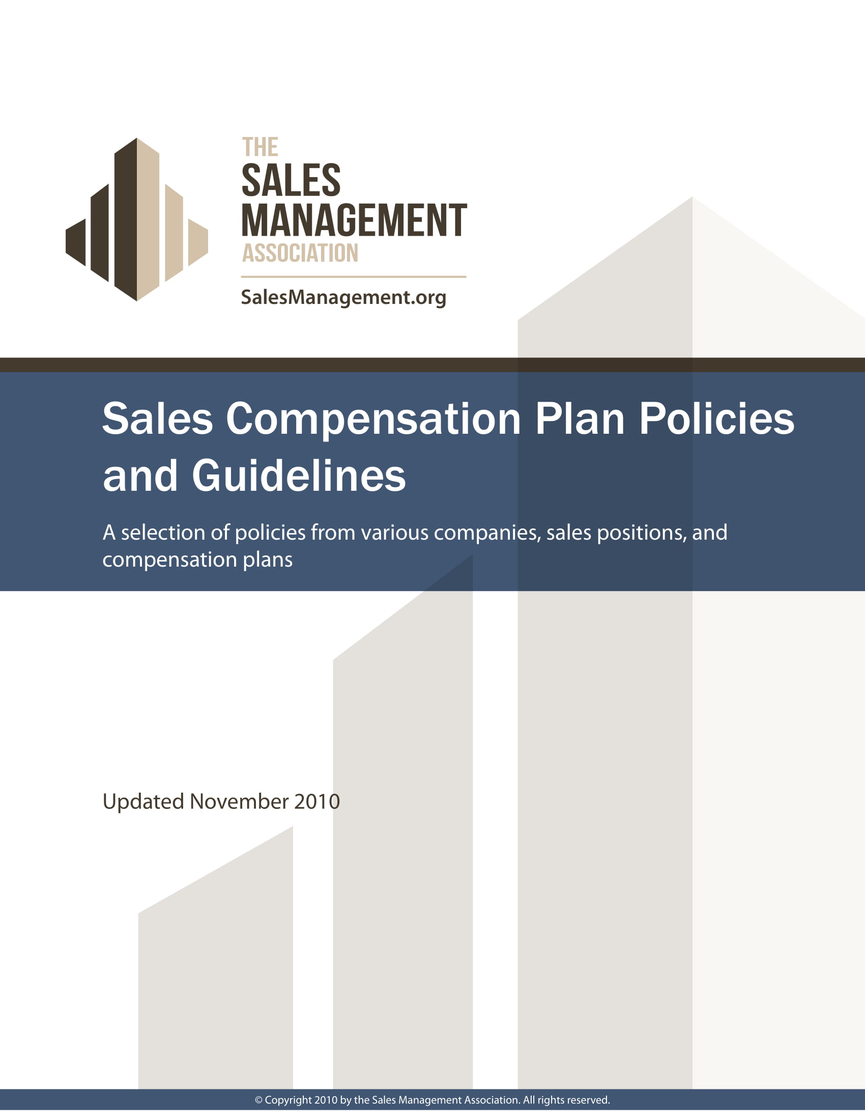sales compensation plan format and content guidelines example 1
