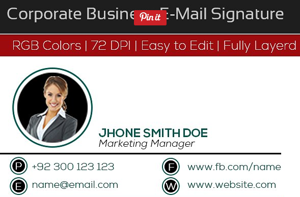 sales marketing manager email signature example