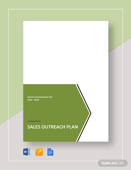sales outreach plan template
