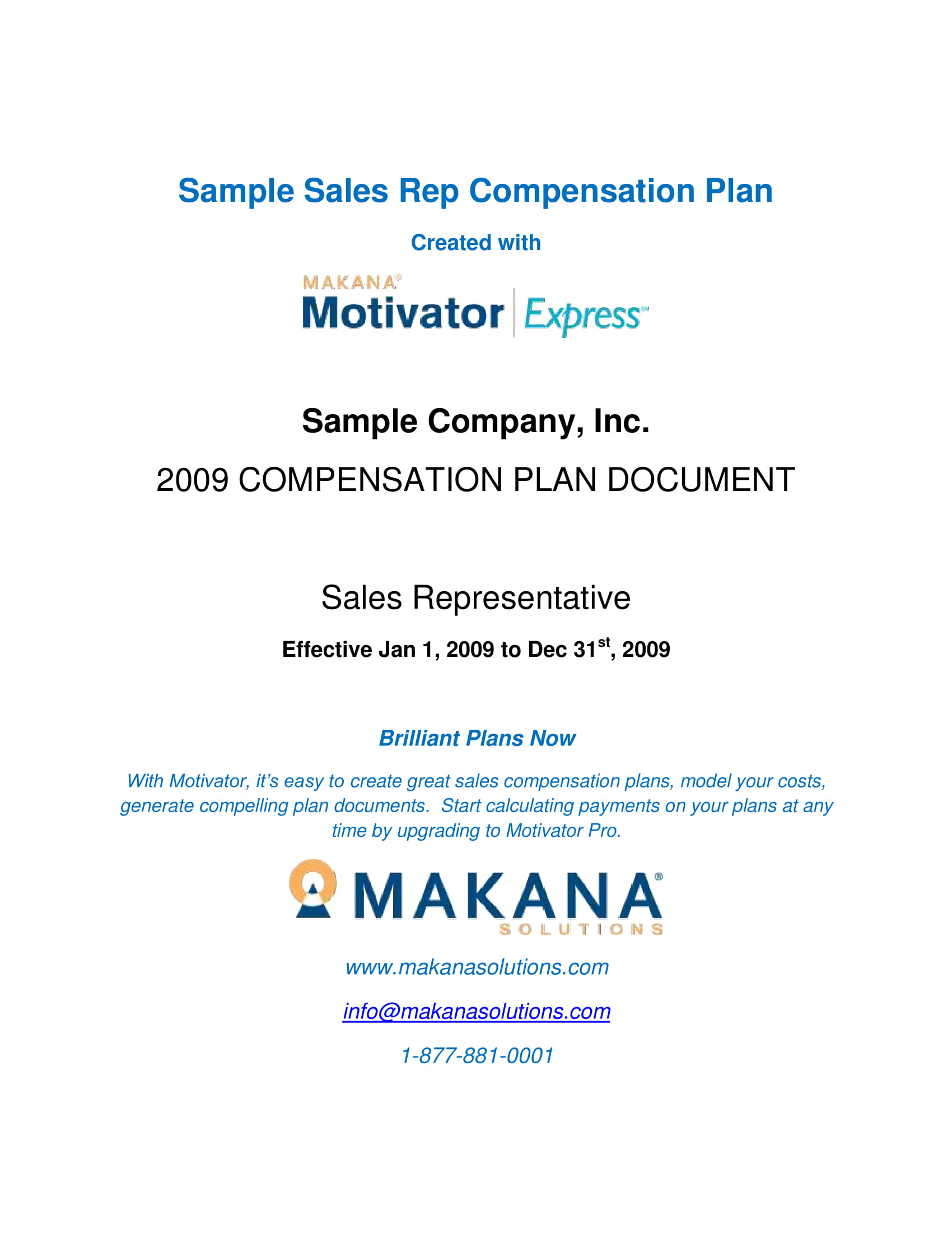 11+ Sales Compensation Plan Template Examples - PDF