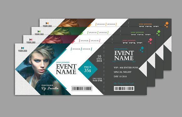 sample event show time ticket