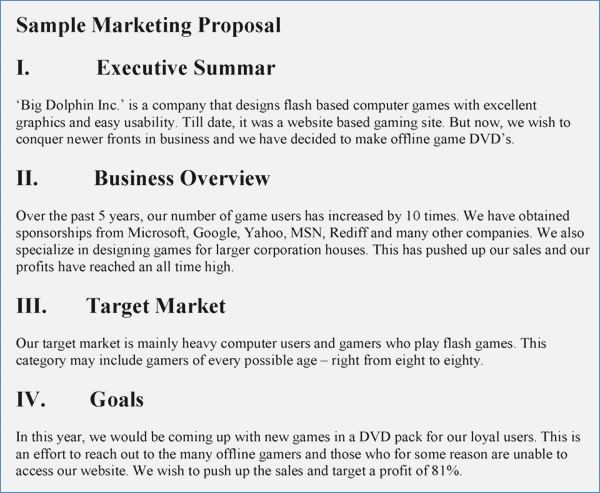8 Printable Market Research Proposal Examples Pdf