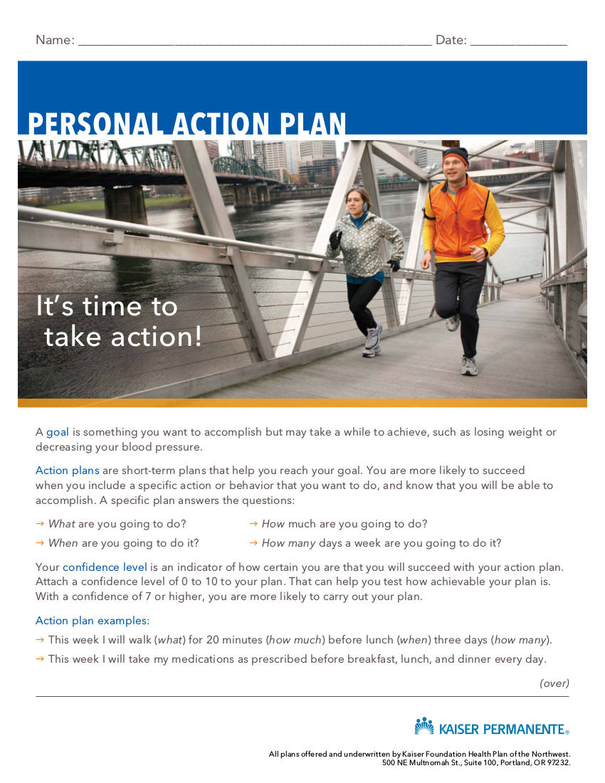 sample person action plan