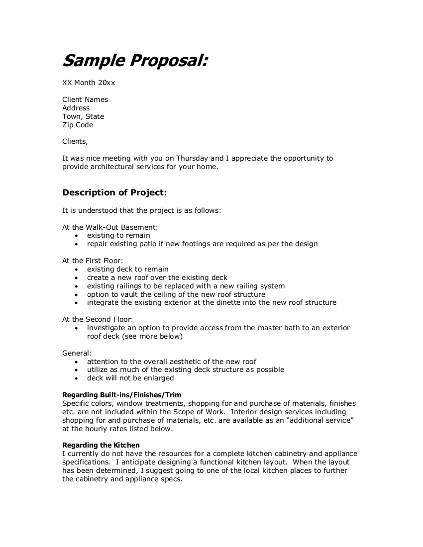 8 interior design proposal examples pdf examples - Interior design letter of agreement ...