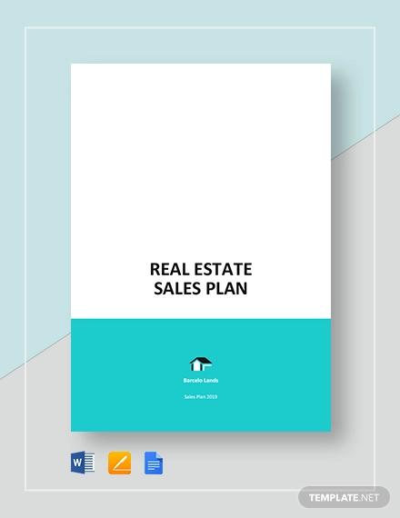 sample real estate sales plan template