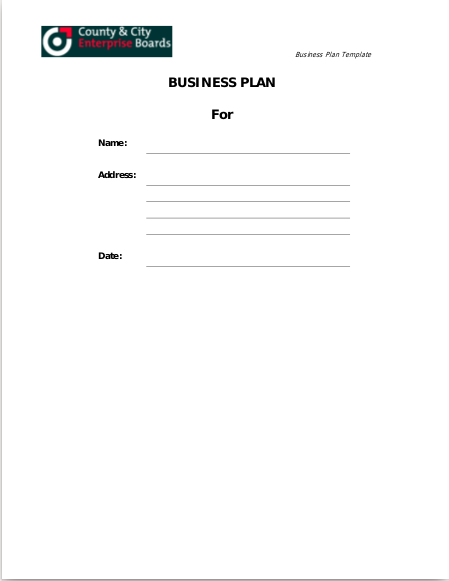 self catering business plan template
