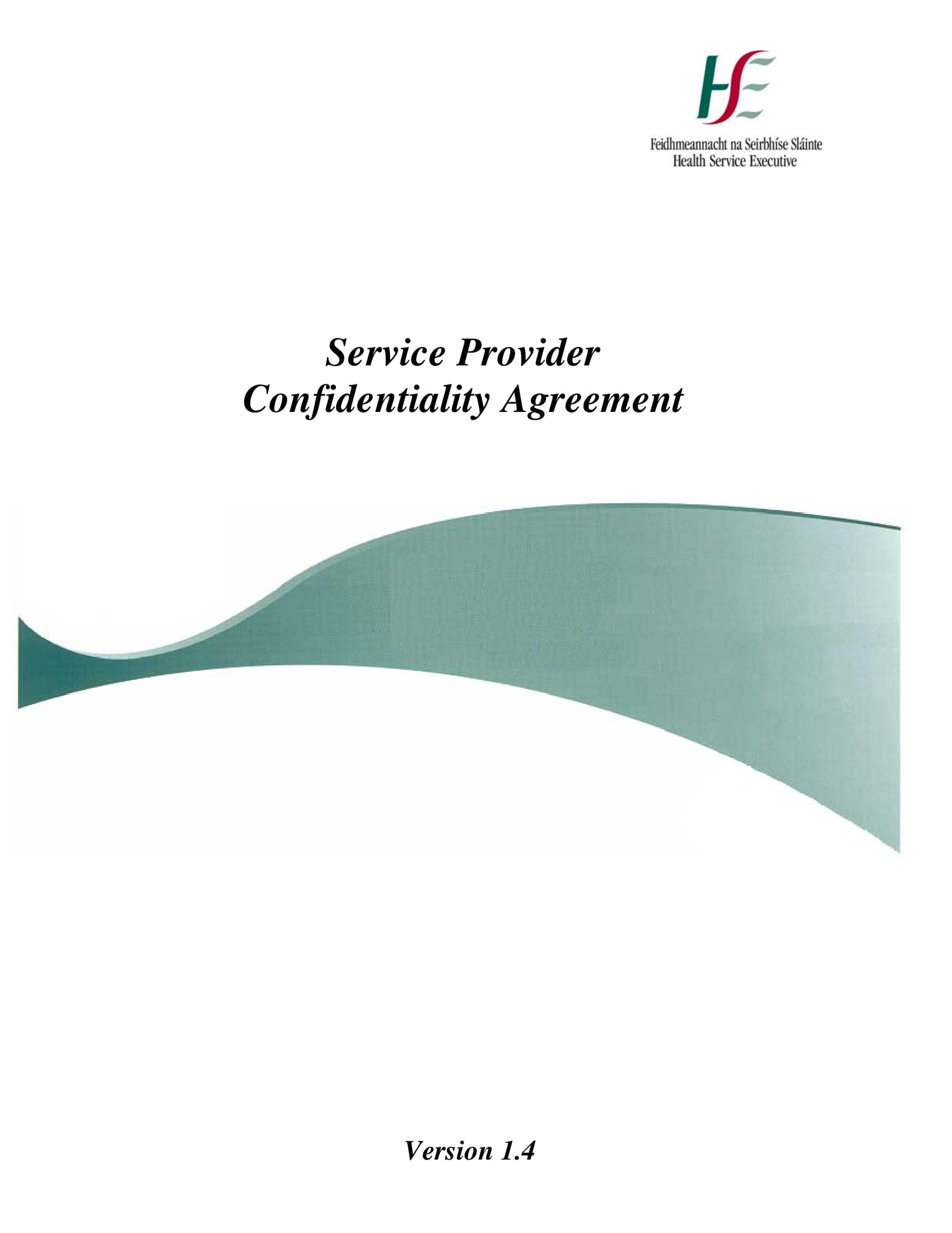 service provider client confidentiality agreement example