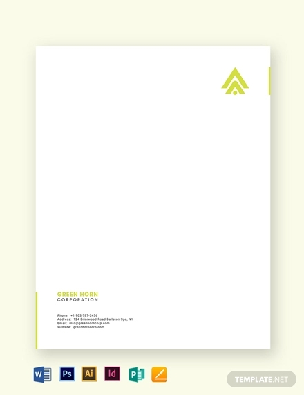 simple business letterhead template
