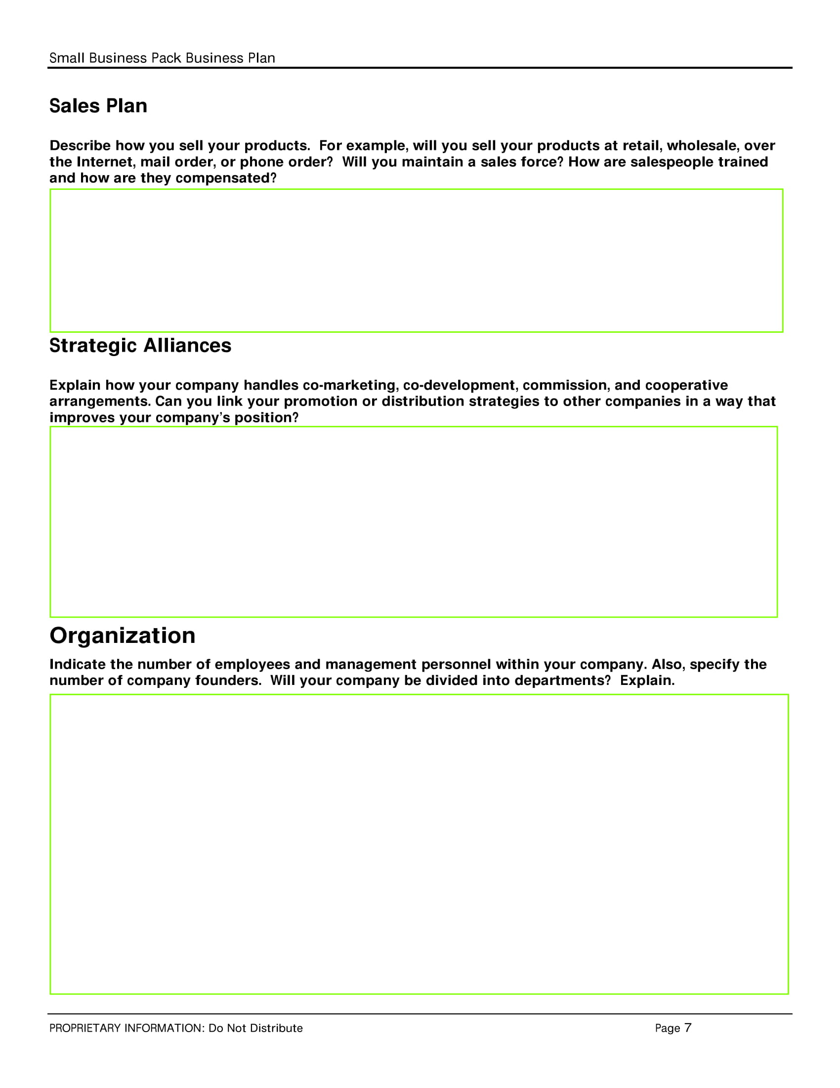 simple business sales plan template