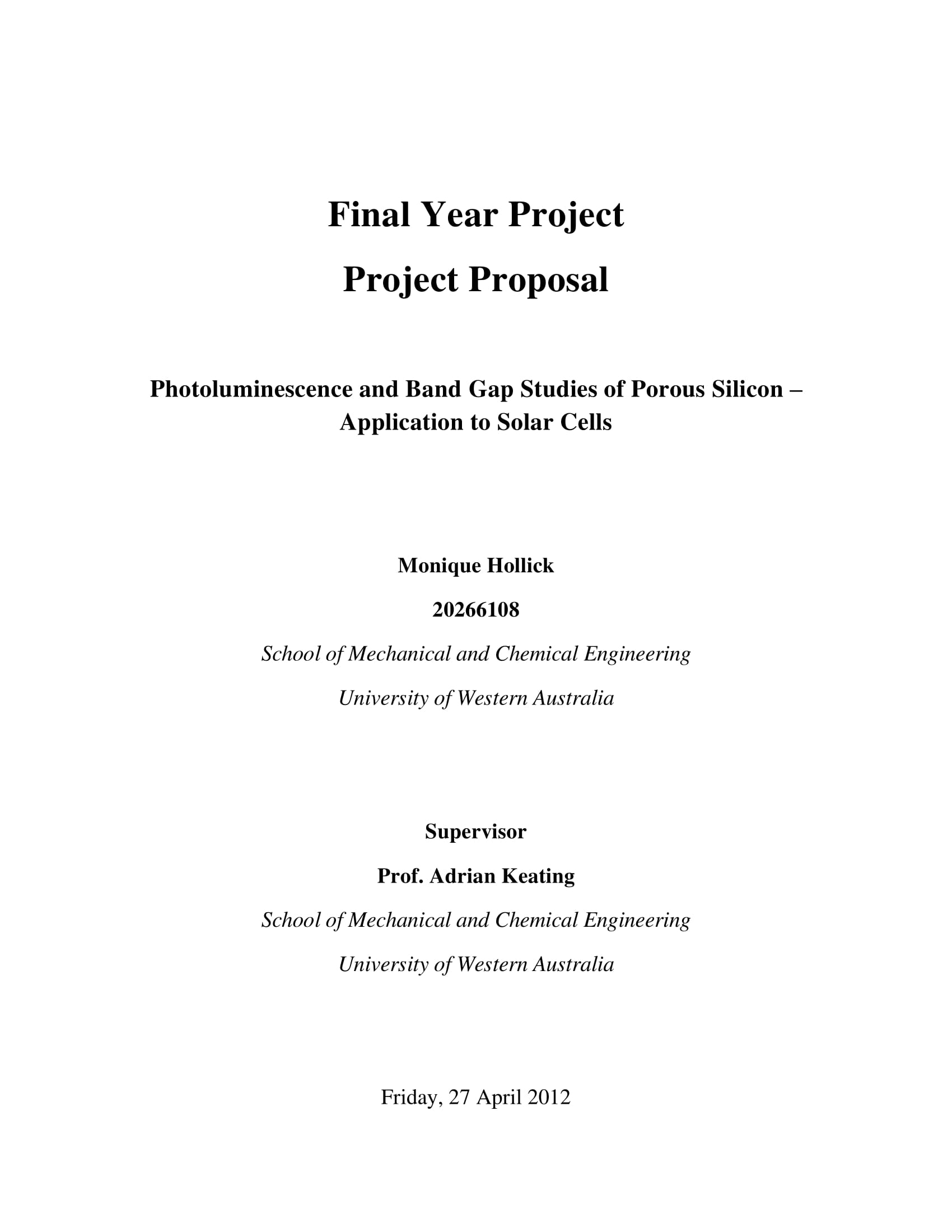 simple final year project proposal example 01