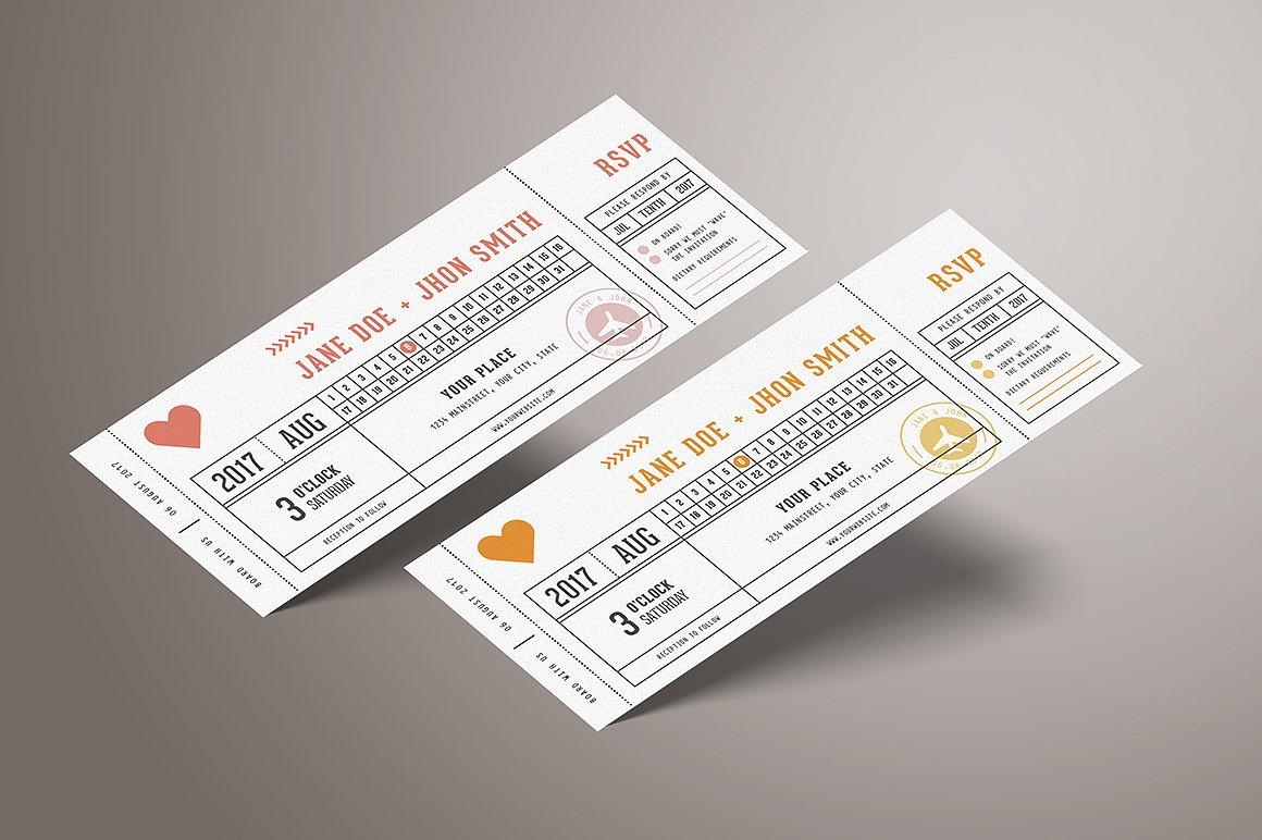 simple plane boarding ticket example