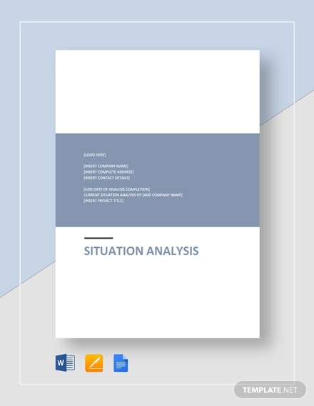 situation analysis template