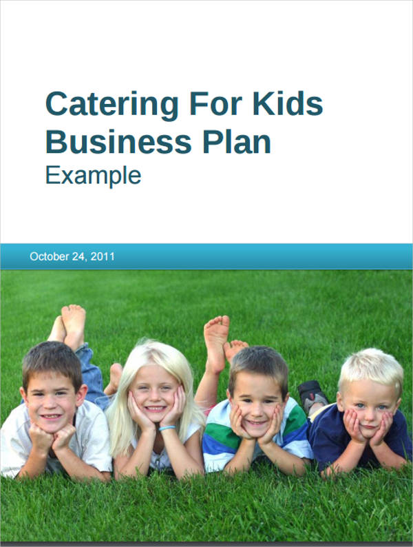 small catering for kids business plan example