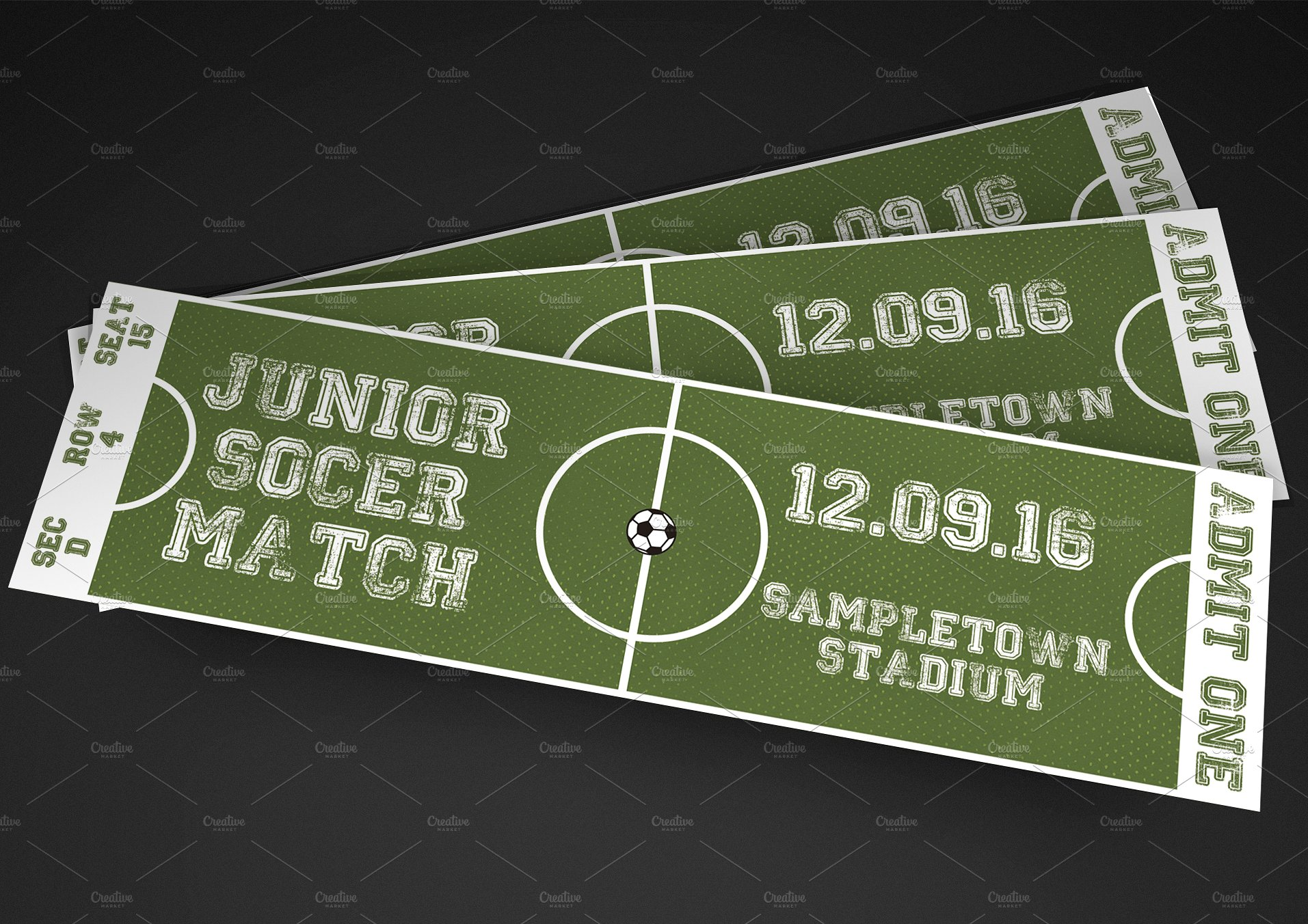 soccer field football tournament ticket example