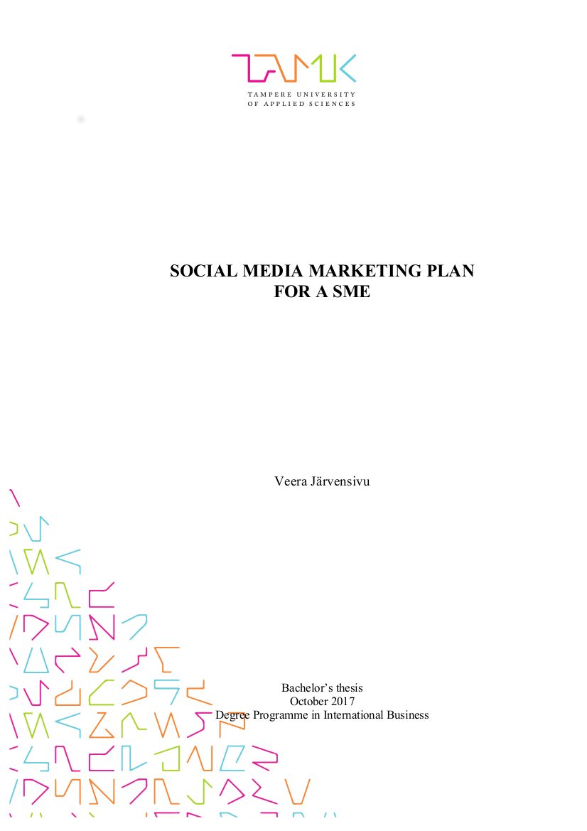 social media marketing plan for smes