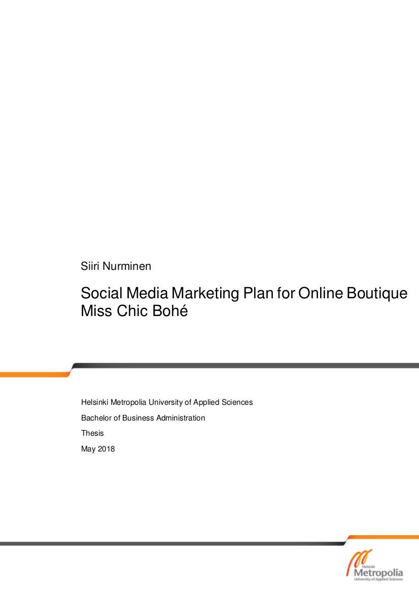 social media marketing plan for an online shop