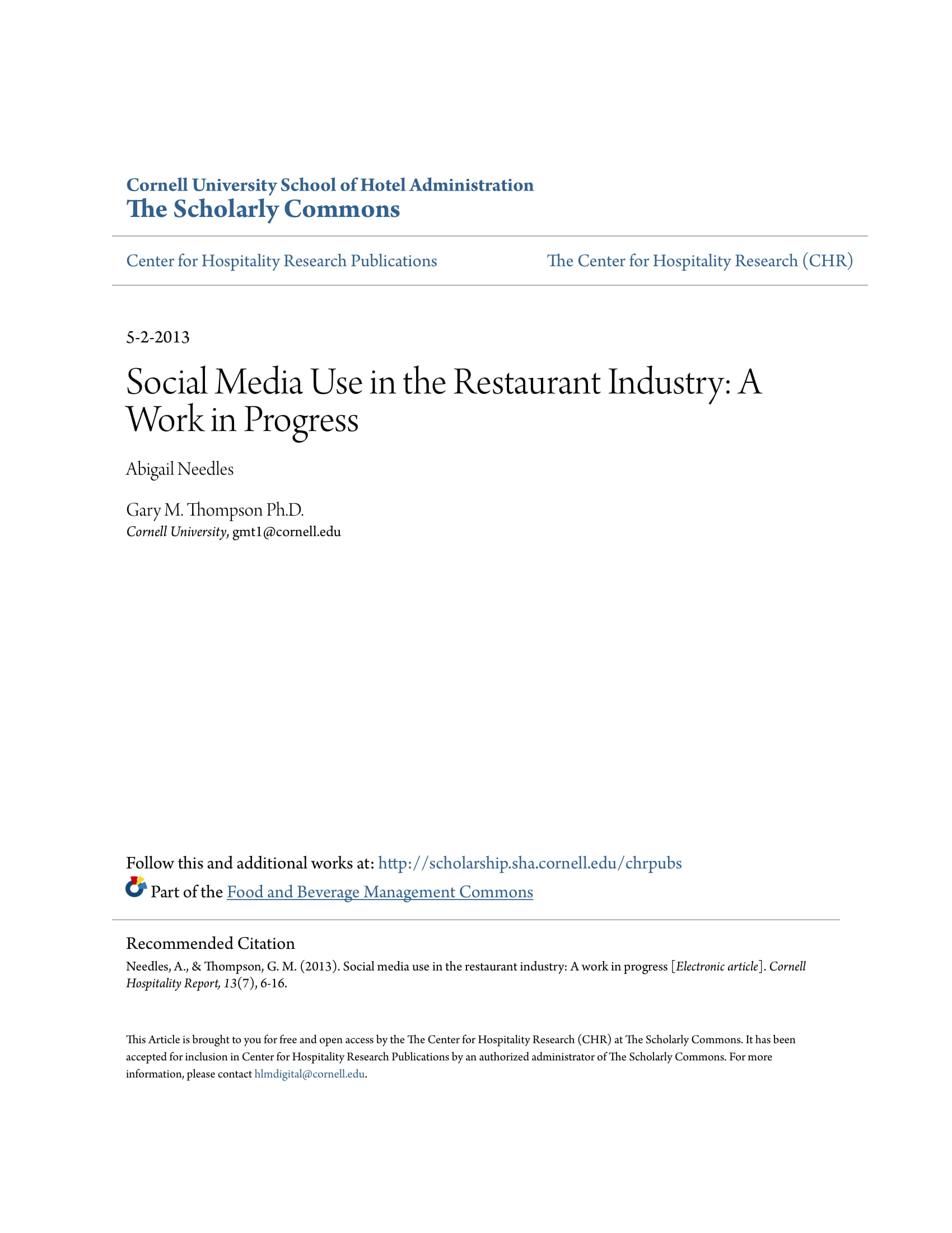 social media use in the restaurant industry business guide analysis study and proposal example 01