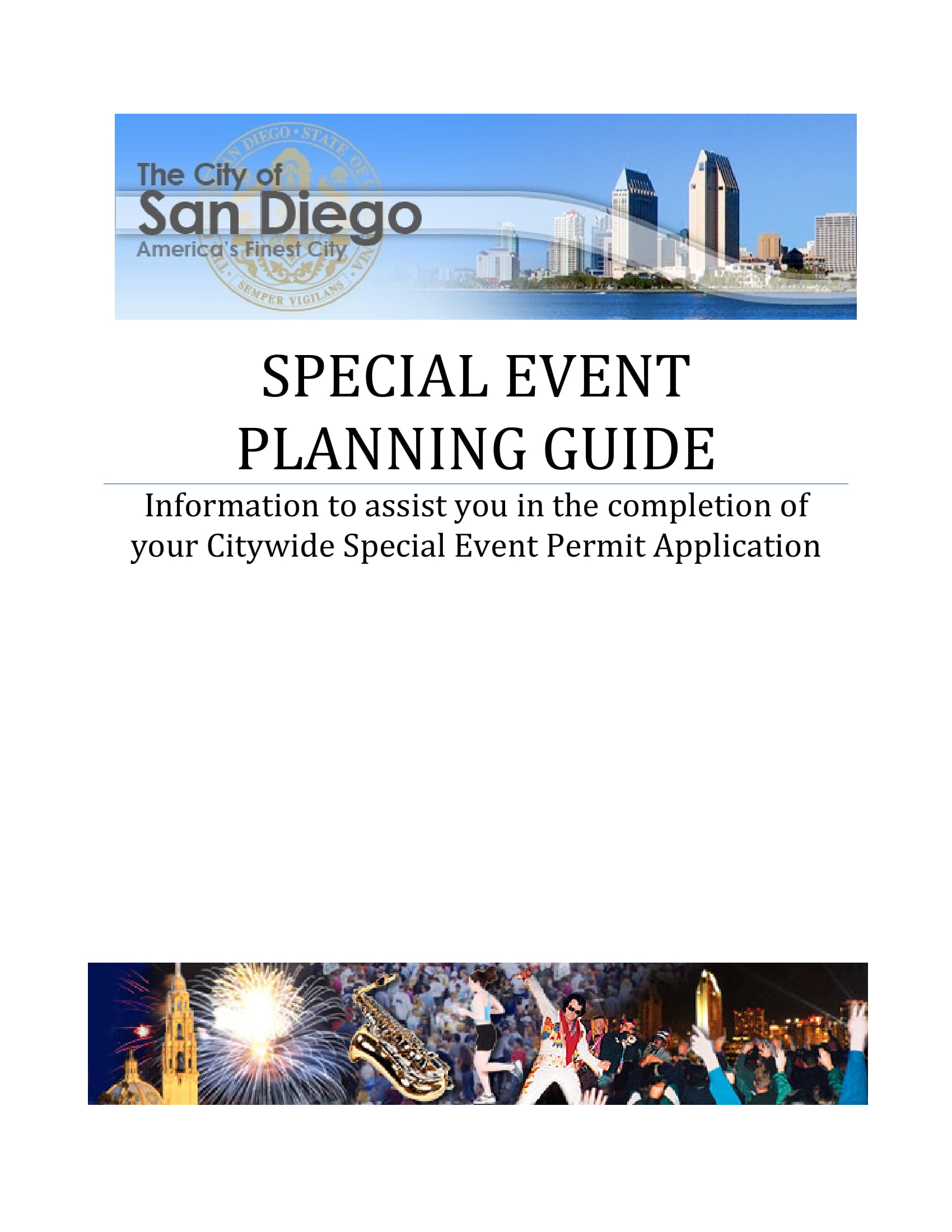 special event planning guide example