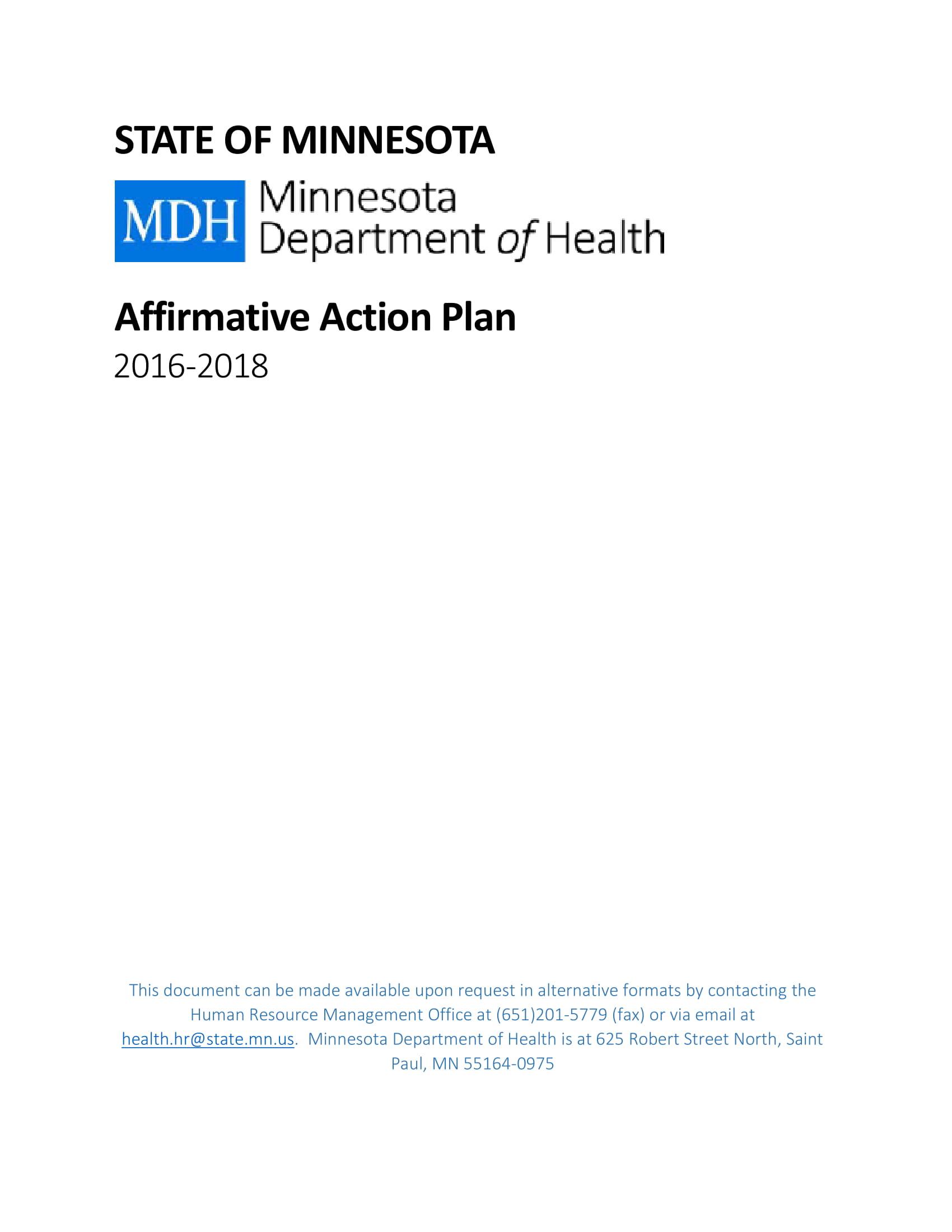 standard affirmative action plan example 01