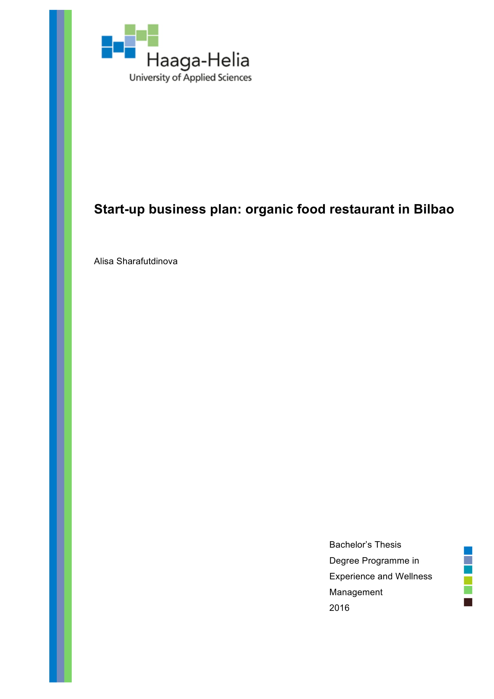 start up business plan with swot analysis for an organic food restaurant example 01