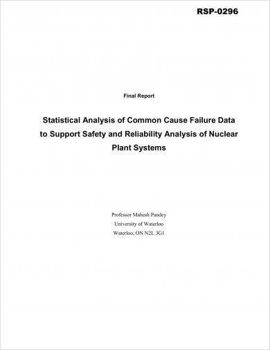 statistical analysis of common cause failure data example