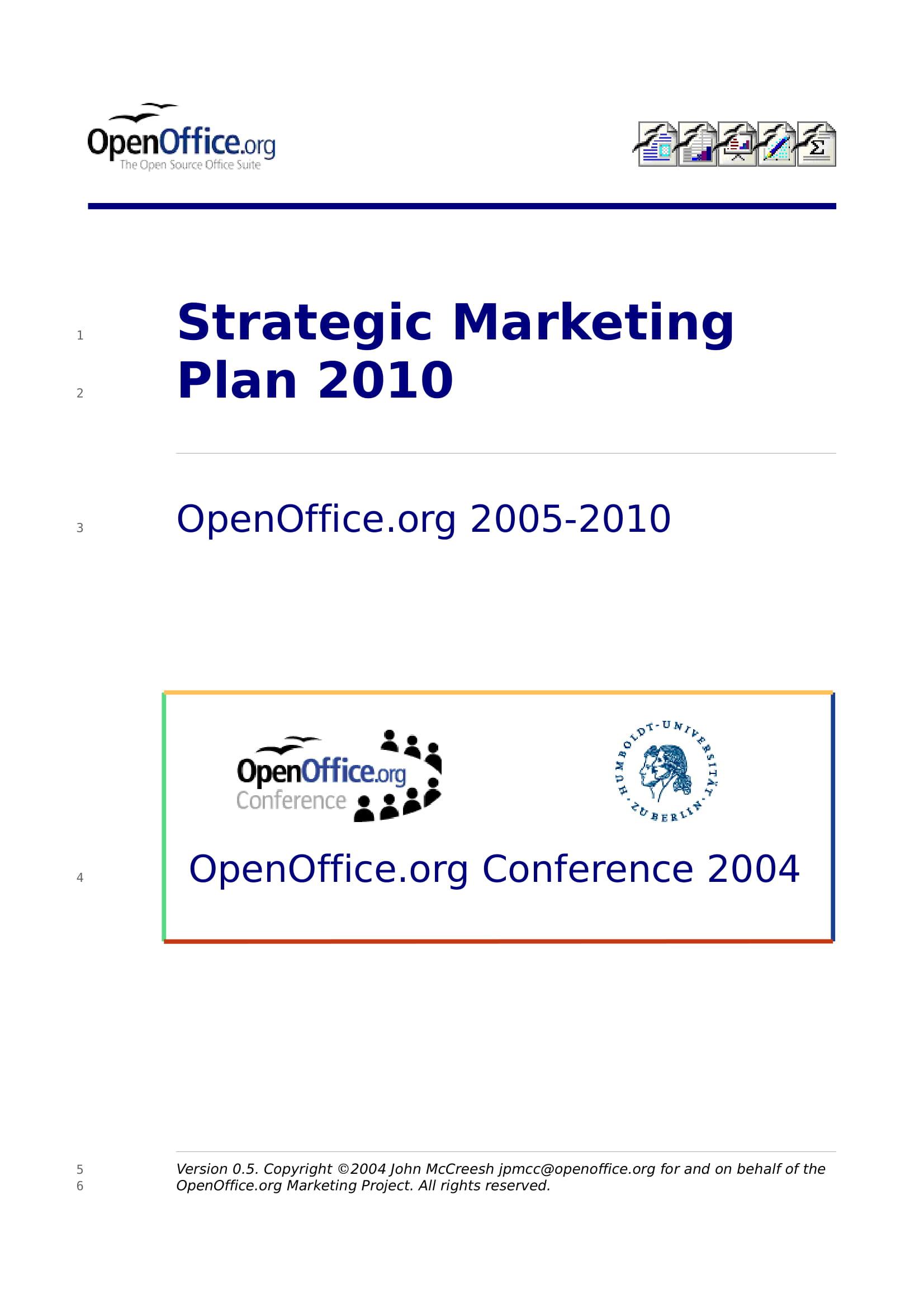 strategic marketing plan content layout example 01