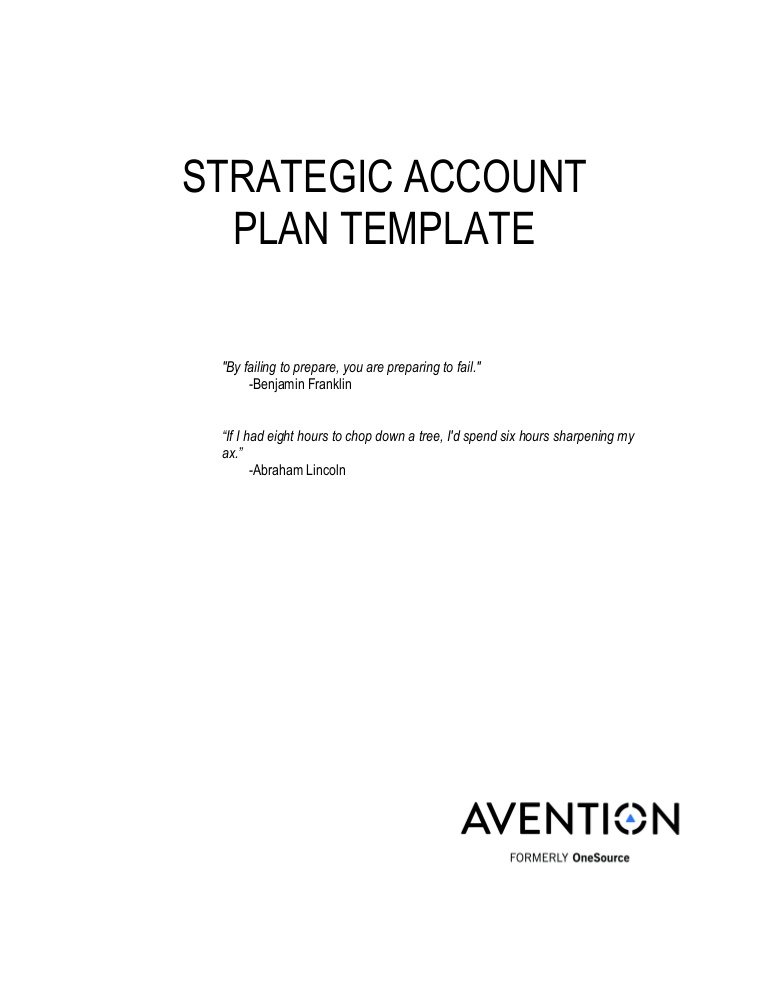 strategic plan cover page template example